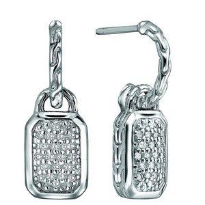 John Hardy diamond pave drop earrings